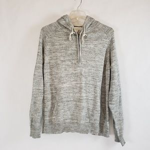 L.O.G.G   H&M | Mens Gray 1/4 Zip Hoodie Sweater